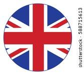united kingdom of vector flag ... | Shutterstock .eps vector #588715613