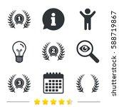 laurel wreath award icons.... | Shutterstock . vector #588719867