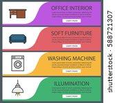 furniture banner templates set. ...   Shutterstock .eps vector #588721307