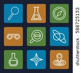 discovery icons set. set of 9... | Shutterstock .eps vector #588725153