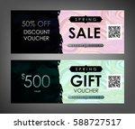gift certificate  voucher ... | Shutterstock .eps vector #588727517