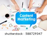 content marketing. the meeting... | Shutterstock . vector #588729347