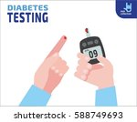 diabetes testing.  person holds ... | Shutterstock .eps vector #588749693