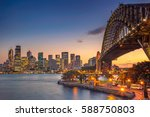 sydney. cityscape image of... | Shutterstock . vector #588750803