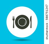 plate icon. plate vector...   Shutterstock .eps vector #588751247