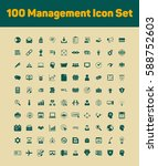100 management icons set | Shutterstock .eps vector #588752603