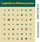 logistics and delivery icons set | Shutterstock .eps vector #588752813