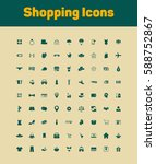 shopping icons set | Shutterstock .eps vector #588752867