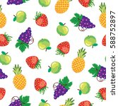 seamless vector background with ... | Shutterstock .eps vector #588752897