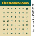 electronics icons set | Shutterstock .eps vector #588752927