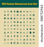 100 human resources icons set | Shutterstock .eps vector #588752963