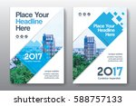 blue color scheme with city...   Shutterstock .eps vector #588757133