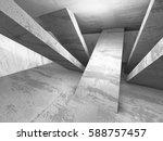 dark empty room. concrete rusty ... | Shutterstock . vector #588757457