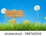 summer   spring scene with... | Shutterstock . vector #588760343