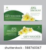 gift voucher for spa hotel... | Shutterstock .eps vector #588760367