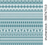 vector set of floral elements.... | Shutterstock .eps vector #588767513