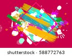 bright color vector paint...
