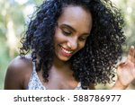 outdoors portrait of a young...   Shutterstock . vector #588786977