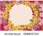 floral background. realistic... | Shutterstock .eps vector #588802763