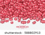 vector 3d like counter icons in ... | Shutterstock .eps vector #588802913