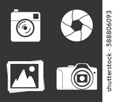 photo icons set isolated on ... | Shutterstock .eps vector #588806093