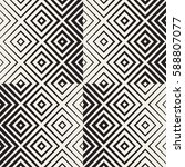 trendy monochrome line lattice. ... | Shutterstock .eps vector #588807077