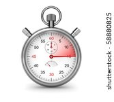 15 seconds. isolated stopwatch... | Shutterstock . vector #58880825
