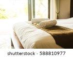 beautiful room in villa  towel... | Shutterstock . vector #588810977