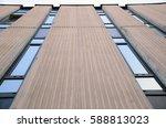 detail of facade of communist... | Shutterstock . vector #588813023