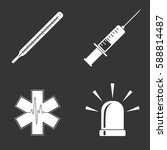 hospital icons set isolated on  ... | Shutterstock .eps vector #588814487