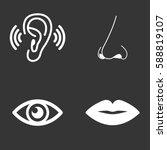 the sense organs icons set... | Shutterstock .eps vector #588819107
