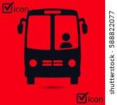 bus icon. schoolbus symbol.... | Shutterstock .eps vector #588822077
