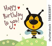 happy birthday to you  funny... | Shutterstock .eps vector #588830897