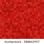 red square mosaic background.... | Shutterstock .eps vector #588842957