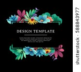 banner design template with... | Shutterstock .eps vector #588843977