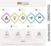 timeline infographics design... | Shutterstock .eps vector #588852503