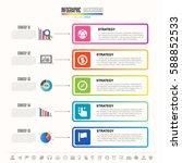 timeline infographics design... | Shutterstock .eps vector #588852533