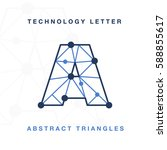 abstract letter triangle... | Shutterstock .eps vector #588855617