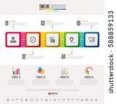 timeline infographics design...   Shutterstock .eps vector #588859133