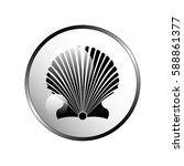 scallop seashell. | Shutterstock .eps vector #588861377