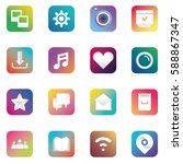vector gradient app icons of... | Shutterstock .eps vector #588867347