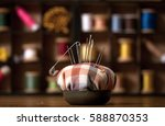 background is sewing... | Shutterstock . vector #588870353