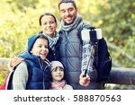 travel  tourism  hike ... | Shutterstock . vector #588870563