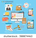 flat design  infographic with... | Shutterstock .eps vector #588874463
