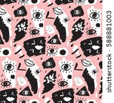trendy vector pattern with... | Shutterstock .eps vector #588881003