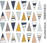 tribal boho pattern with... | Shutterstock .eps vector #588892823