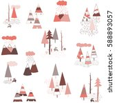 tribal boho vector pattern with ... | Shutterstock .eps vector #588893057