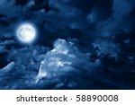 magic moon in the night sky | Shutterstock . vector #58890008