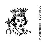 queen of the household   retro... | Shutterstock .eps vector #58890803