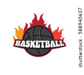 basketball tournament emblem... | Shutterstock .eps vector #588940637